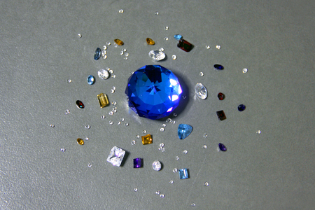 gem: The Difference of Colorful Gem Stock Photo