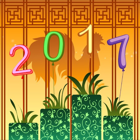 traditonal: Abstract chinese new year graphic and background. Illustration, EPS 10