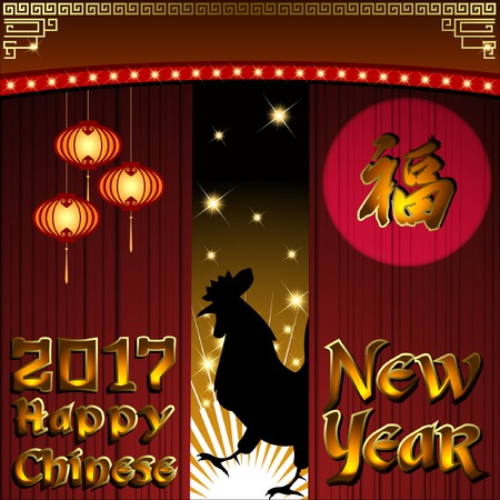 traditonal: Abstract chinese new year with Traditional Chinese Wording .The meaning are Lucky and Happy. Illustration, EPS 10