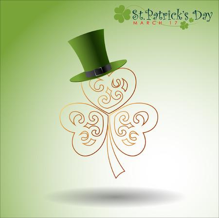 Abstrackt of St.Patricks Day, Background Design, Vector and Illustration, EPS 10.