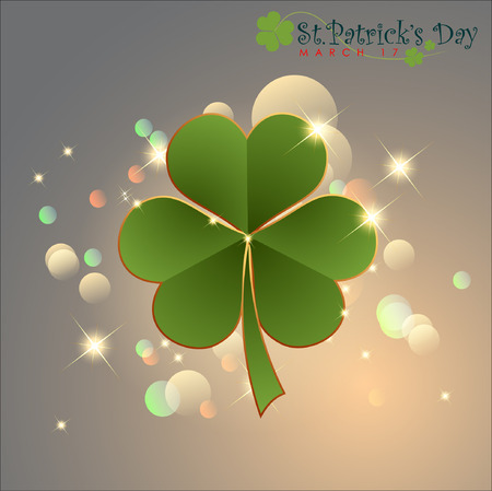 Abstrackt of St.Patrick's Day, Background Design, Vector and Illustration, EPS 10. Vector Illustration