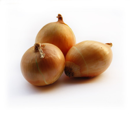Onions Isolated on White Background. Natural Food Concept.