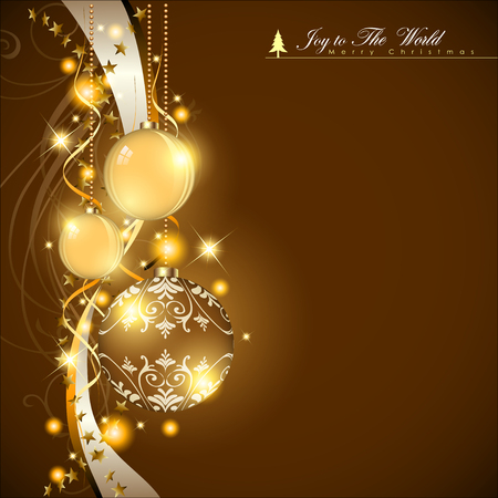 Abstract Christmas design template Illustration