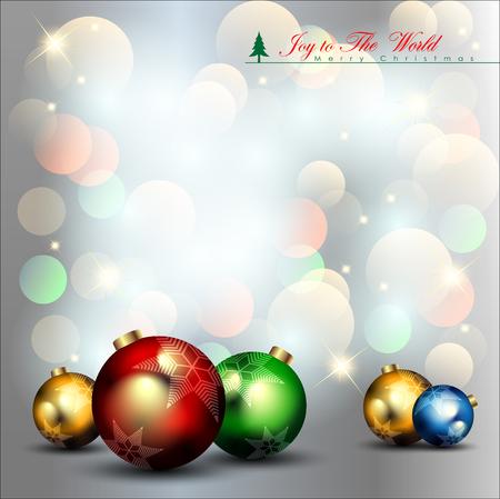 Abstract Christmas Background. Christmas Ball Concept.Illustration, EPS 10