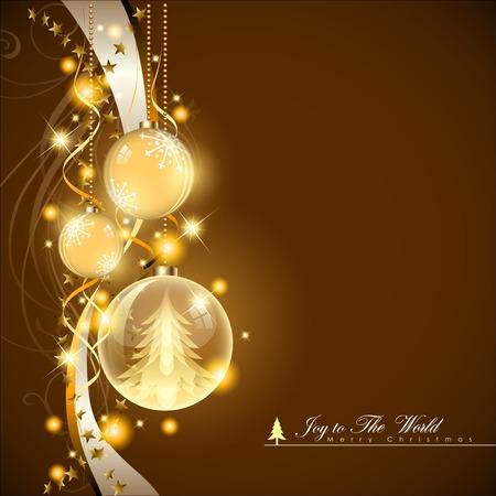 Abstract Christmas Background. Christmas Ball Concept illustration. Illustration