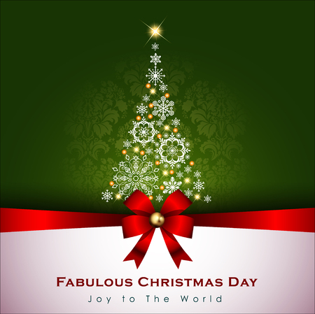 Abstract Christmas Background. Christmas Tree Concept.Vector and Illustration, EPS 10 Imagens