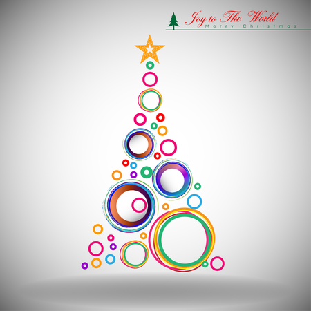 Abstract Christmas Background. Christmas Tree Concept. Illustration
