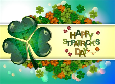 Abstrackt of St.Patricks Day Background. Card or Banner Template Design. Vector and Illustration, EPS 10. Illustration