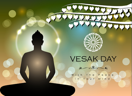 Abstract of Vesak The Meditation Day image illustration 向量圖像