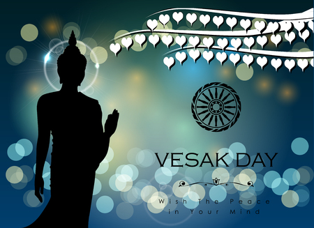 Abstract of Vesak The Meditation Day image illustration Ilustração