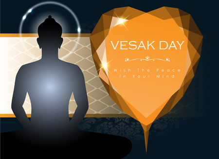 Abstract of Vesak The Meditation Day image illustration Illustration