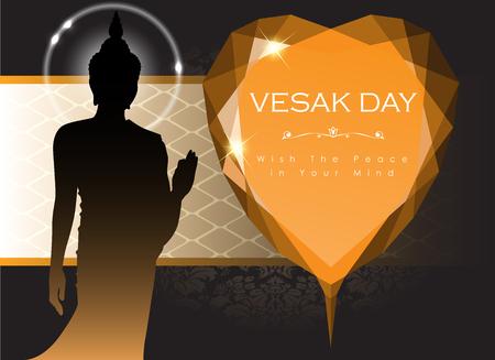 Abstract of Vesak The Meditation Day image illustration Stock Vector - 100045389