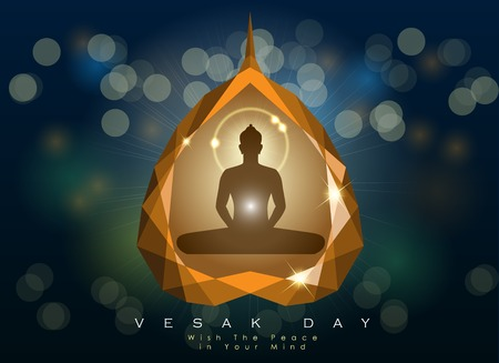 Vesak Day poster template vector illustration Ilustrace