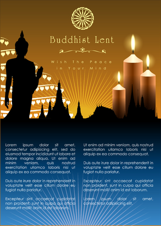 Buddhist Lent Artwork Template. Vector and illustration