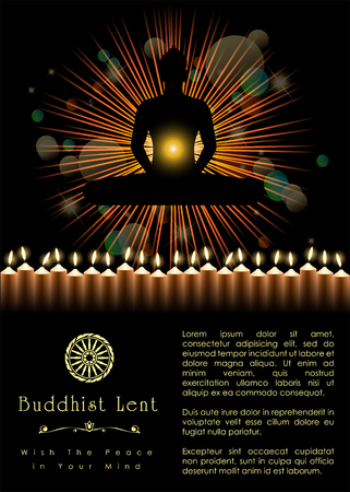 Buddhist Lent Artwork Template. Vector and illustration