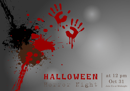 Abstract of Halloween, Template Background, Vector and illustration, eps 10 Vettoriali
