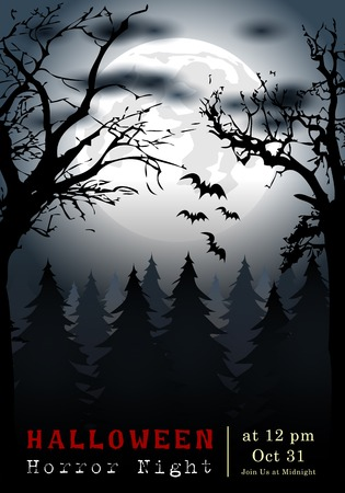 Abstract of Halloween, Template Background, Vector and illustration, eps 10