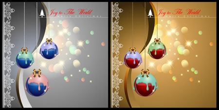 Abstract of Christmas Background and Template. Christmas Balls and Party Concept. Vector and Illustration, EPS 10. Illusztráció