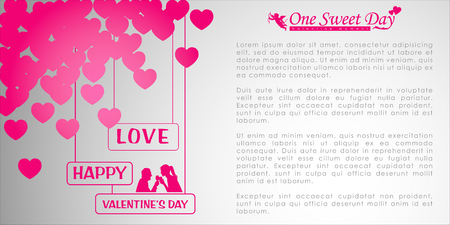Abstract background of Valentine's day. Background Template. Vector and Illustration, EPS 10 Standard-Bild - 114564259