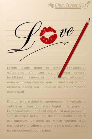 Abstract background of Valentine's day. Background Template. Vector and Illustration, EPS 10