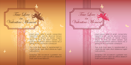 Abstract background of Valentine's day. Background Template. Vector and Illustration, EPS 10 Standard-Bild - 117009833