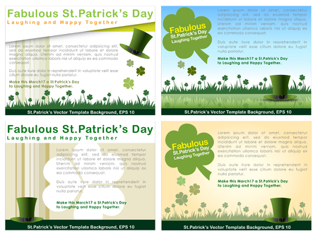 Abstrackt of St.Patrick's Day, Background Design, Vector and Illustration, EPS 10. Illustration
