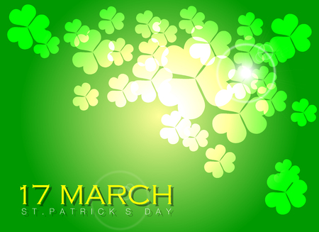 Abstrackt of St.Patricks Day Background. Vector and Illustration, EPS 10.