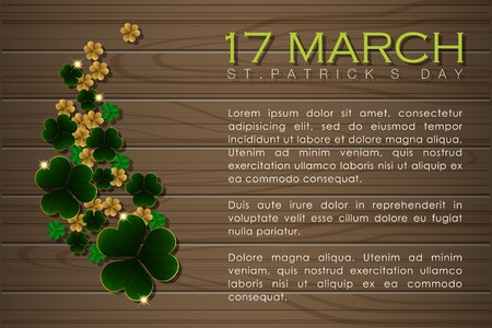 Abstrackt of St.Patricks Day Background. Card or Banner Template Design. Vector and Illustration, EPS 10.  イラスト・ベクター素材