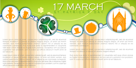 Abstrackt of St.Patricks Day with St.Patricks Day Icon Inforgraphic, Vector and Illustration, EPS 10.  イラスト・ベクター素材