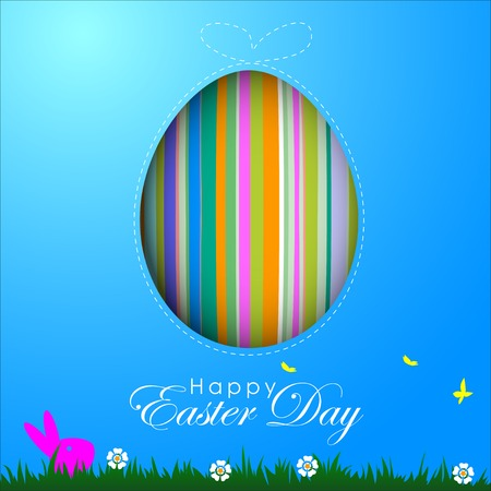 Abstract of Easter eggs. Banner and Background Template. Vector and Illustration, EPS 10  イラスト・ベクター素材