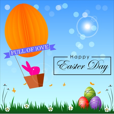 Abstract of Easter eggs. Banner and Background Template. Vector and Illustration, EPS 10 일러스트