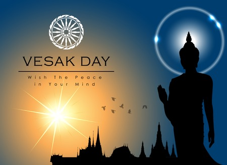 Abstract of Vesak Day, The Meditation Day of The World. Vector and Illustration
