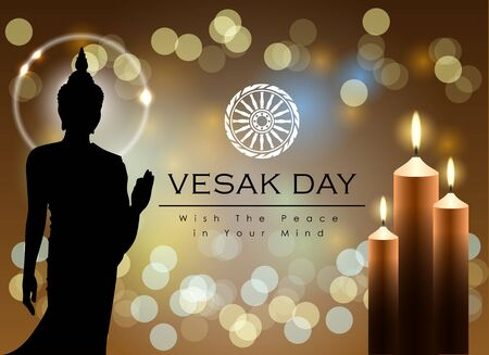 Abstract of Vesak Day, The Meditation Day of The World. Vector and Illustration 일러스트