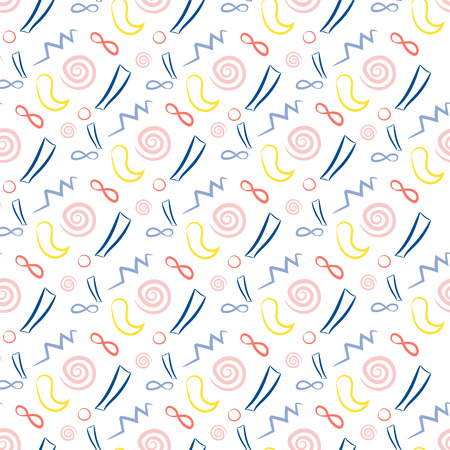 different shapes: Seamless pattern with different shapes in trendy colors Illustration