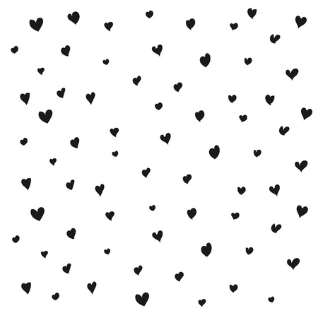 decoratively: Seamless black heart pattern. Texture for paper wrapping, web backgrounds, fabric, decoration, scrapbooks, gift paper, greeting cards.