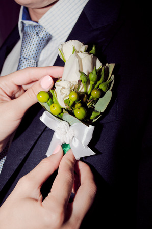 wedding boutonniere for the groom