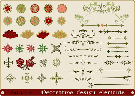 rosetta: Decorative design elements.Vector set.