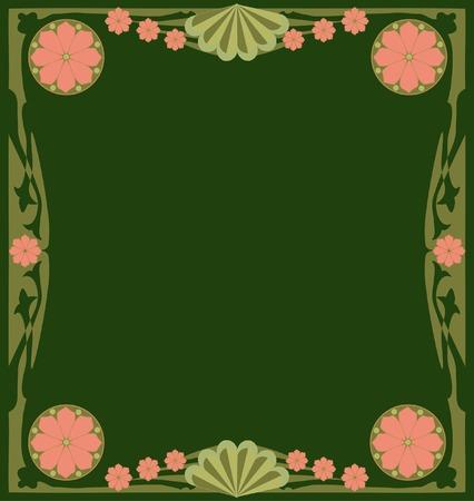 artdeco: Vector illustration. Frame Art Nouveau.
