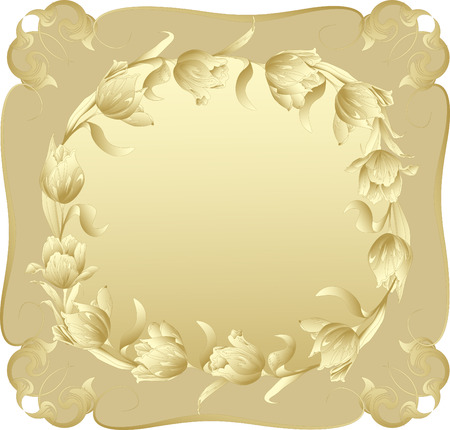 Background in the form of Windows with flowers. Vector