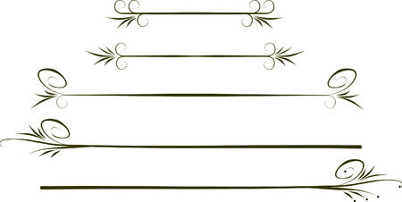 Calligraphic design elements. 向量圖像