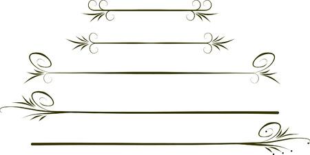 calligraphic design: Calligraphic design elements. Illustration