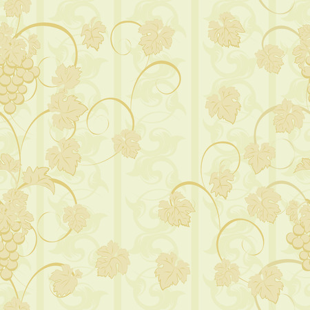 clusters: Vector repeating pattern with grape clusters in vintage style.