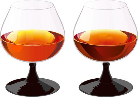 bourbon whisky: Two glasses of brandy.