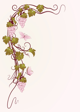 Background for your text with vines in vintage style.