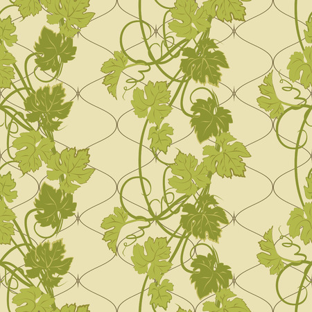 repeat pattern: Vector repeating pattern with vines in vintage style.