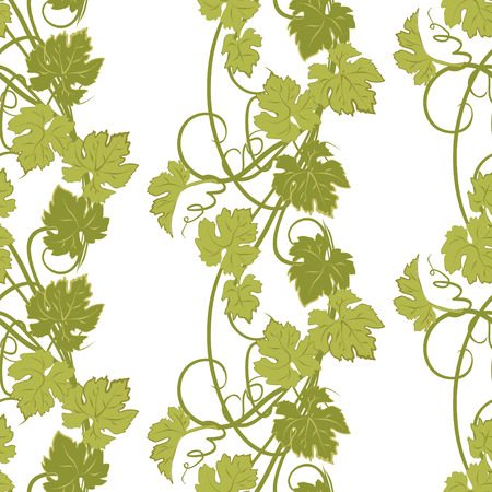 Vector repeating pattern with vines in vintage style.