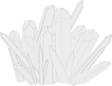 adamant: Vector illustration of druses of crystals on a white background. Illustration