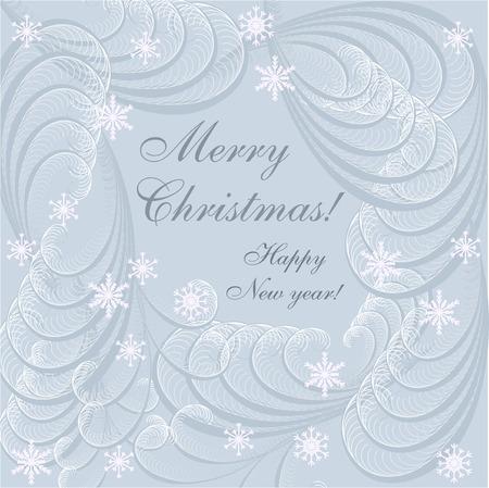 frosty: Christmas background with frosty patterns.