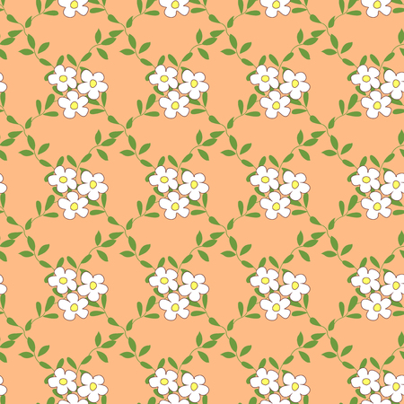 fabric patterns: Seamless pattern with bouquets of flowers cartoon.