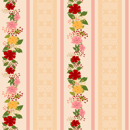 stria: Seamless pattern with a border of bright colors and ornamentation.